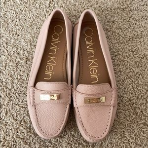 CALVIN KLEIN pink loafers NWOT